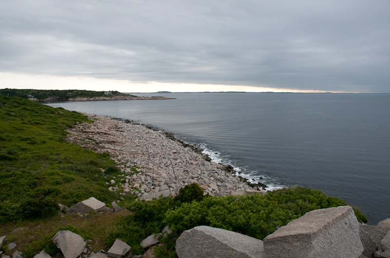 From Halibut Point, Rockport, MA, you can see the coasts of Maine, NH, and MA