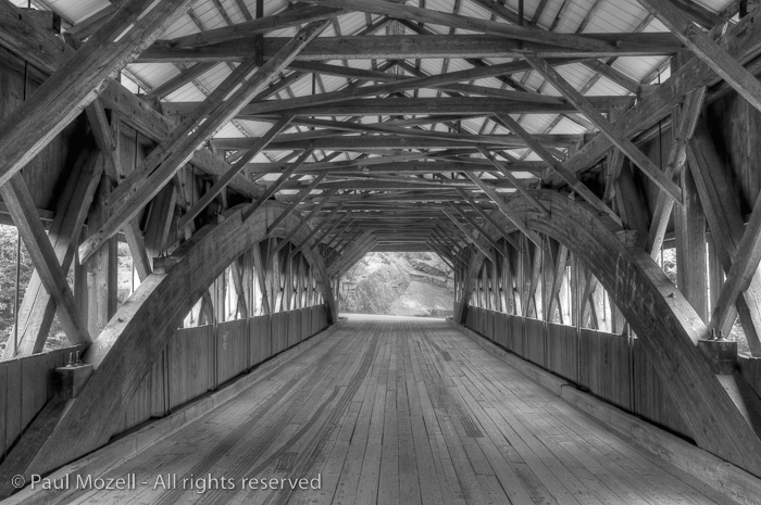 The Albany Covered Bridge over the Swift River, NH