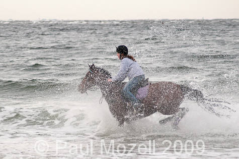Rider in the surf