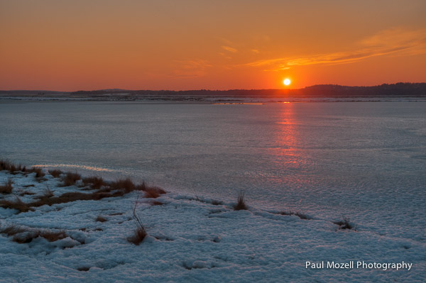Sunset Over Newbury and Plum Island Sound