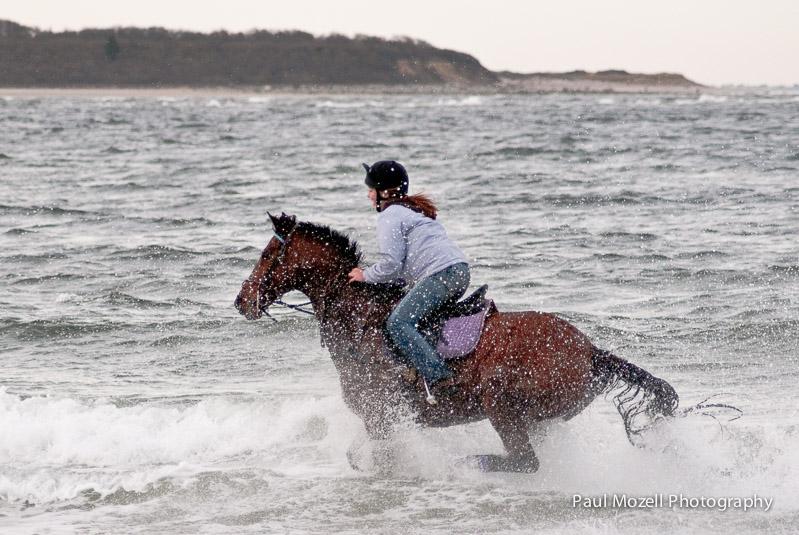 Rider in the surg