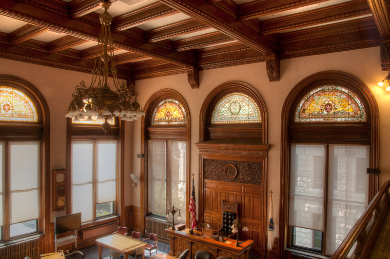 Lowell City Hall Council Chamber — window restoration by A&A Window Products