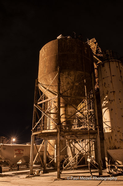 Concrete plant at night