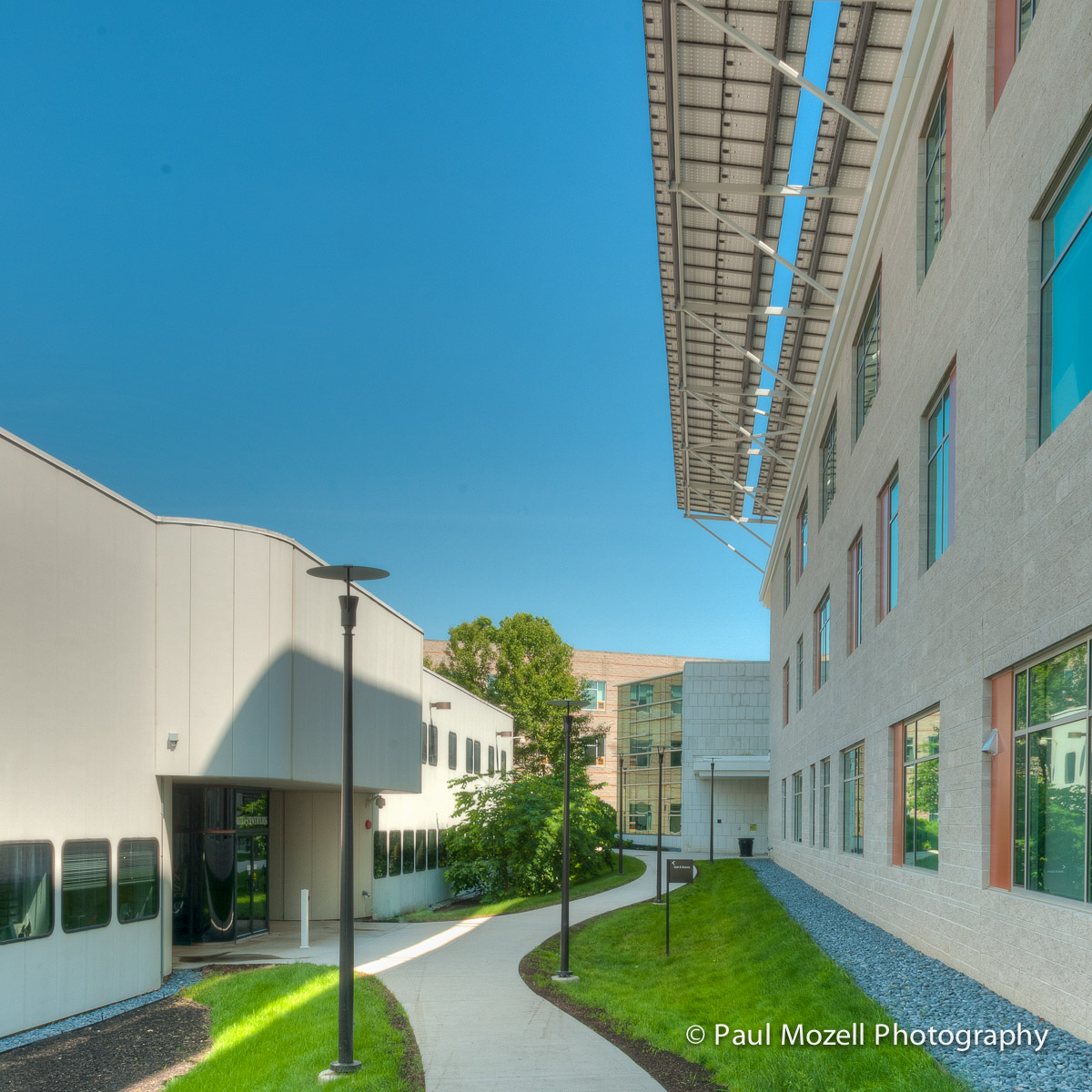 North Shore Community College, Health Professions & Student Services Bldg. (right) Danvers, MA. First zero net energy building built by the Commonwealth.