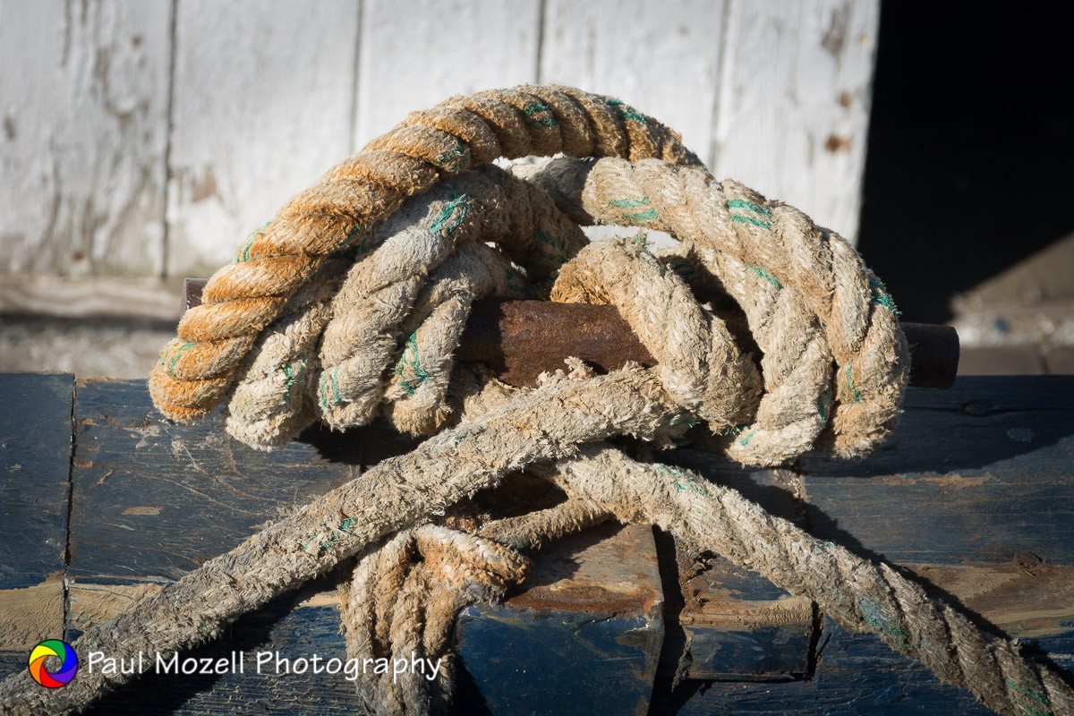 Mooring Line On Cleat