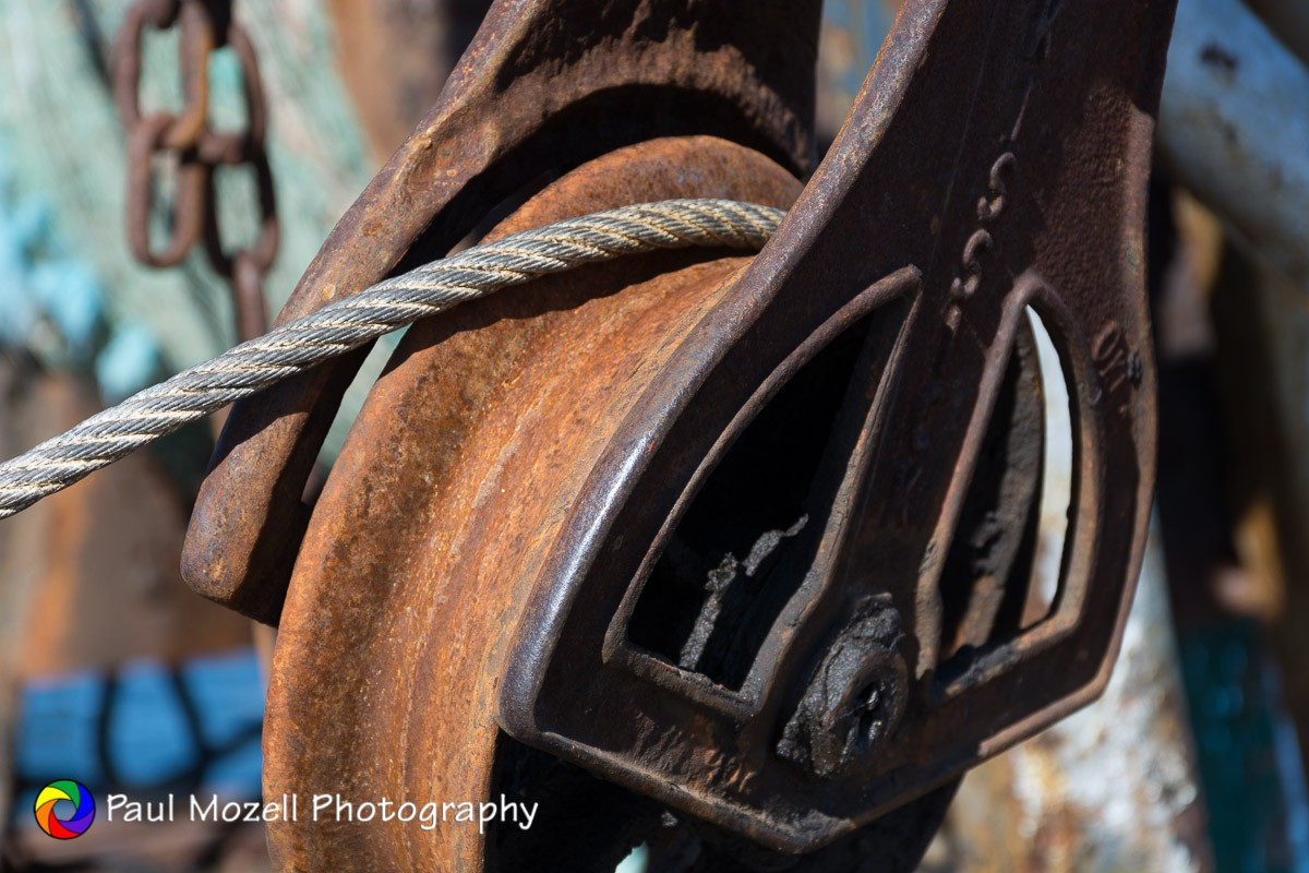 Pulley and Cable, Fishing Boat