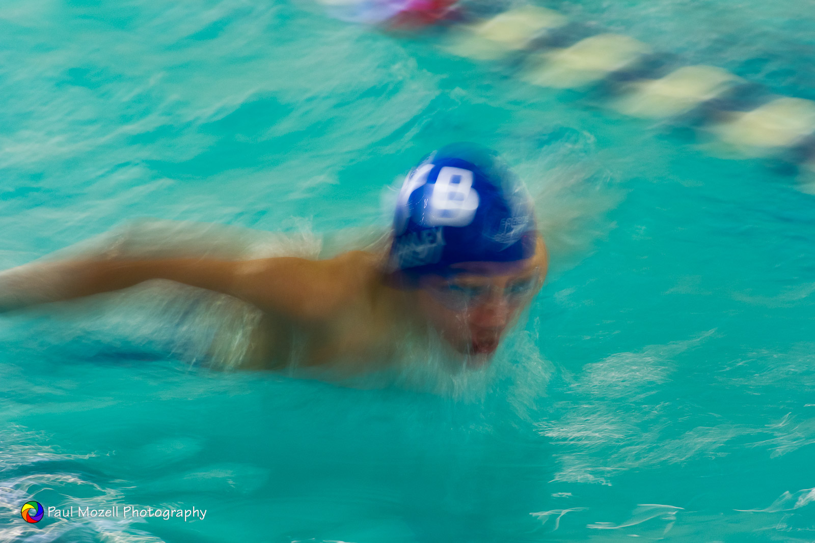 YMCA swim racer, butterfly